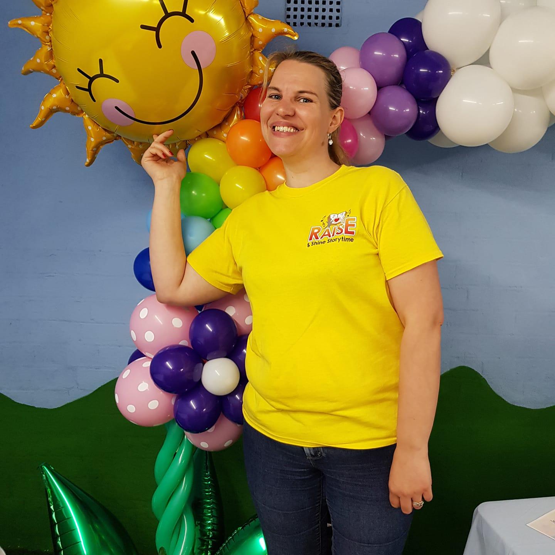 Carol with balloon
